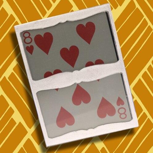 Sealed Card in Frame (Heart 8),Mentalism Magic Tricks,Illusions,Fun,Close up Magic,Magia Toys,Joke,Street