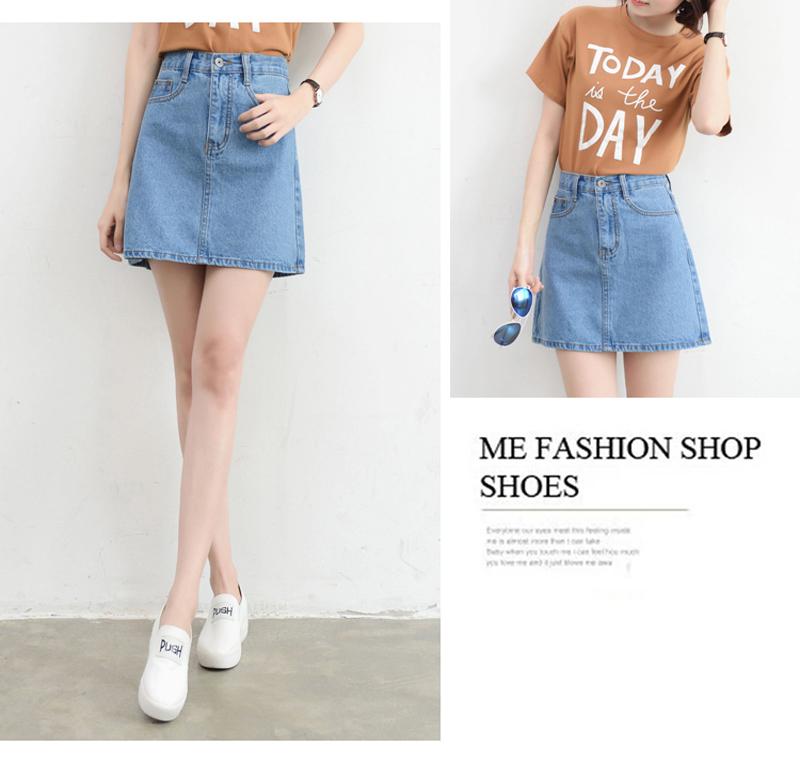 Lucyever Fashion Korean Summer Women Denim Skirt High Waist Black Mini Skirts Package Hip Blue Jeans Harajuku Plus Size Cotton 21
