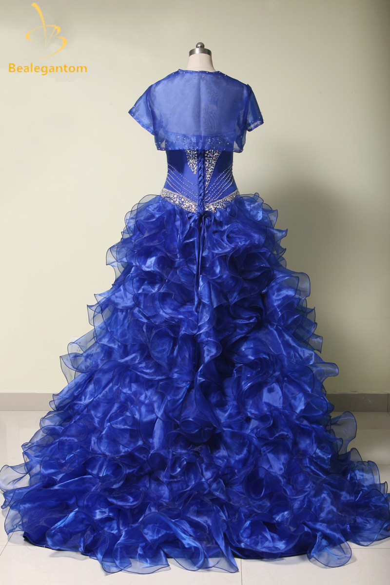2019 High Quality Navy Blue Quinceanera Dresses Ball Gowns Sweetheart Beaded Sweet 16 Dress 15 Years Vestidos De 15 Anos QA414 in Quinceanera Dresses from Weddings Events
