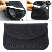 Hot New 1 Pc Auto Car Key Case Signal Blocking Bag Electromagnetic Shielding Pouch For RFID Privacy Protection 10166 стоимость