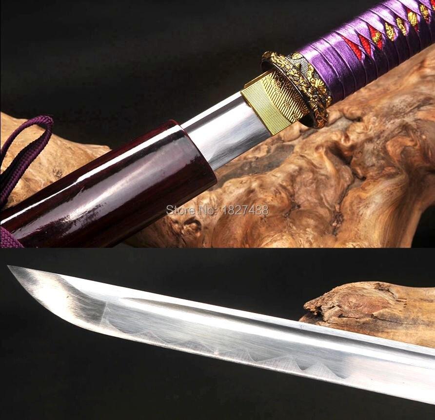 Attento 100 Cm * Giapponese Ninja/samurai Cosplay Reale Spada Katana Sharp 1060 Lama In Acciaio Al Carbonio Linguetta Completa Lama Diritta Ampia Fornitura E Consegna Rapida