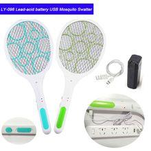 Электрическая мухобойка с USB перезаряжаемой высокой вольтовой электриеская комаробойка и яркой светодиодной подсветкой и безопасной на ощупь сеткой для помещений