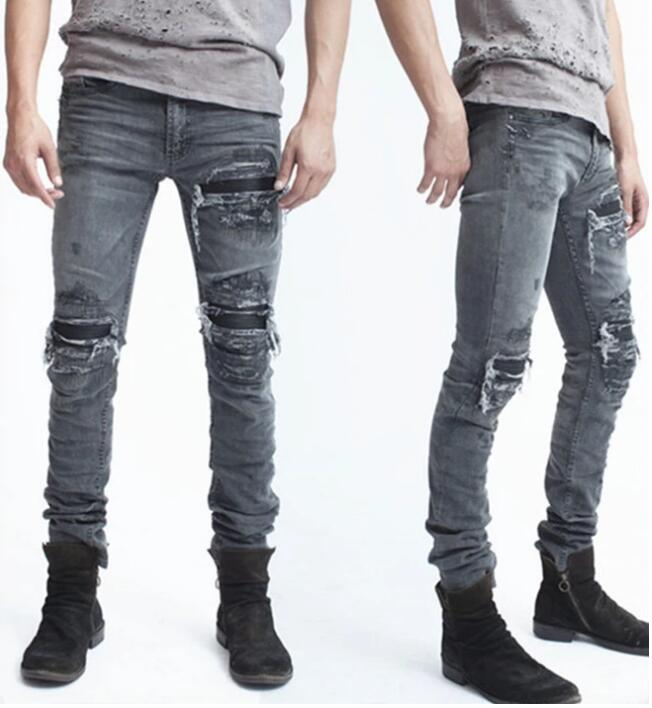 Aliexpress.com  Buy Rare new 2018 fall winter Hip hop men patchwork destroyed ripped skinny ...