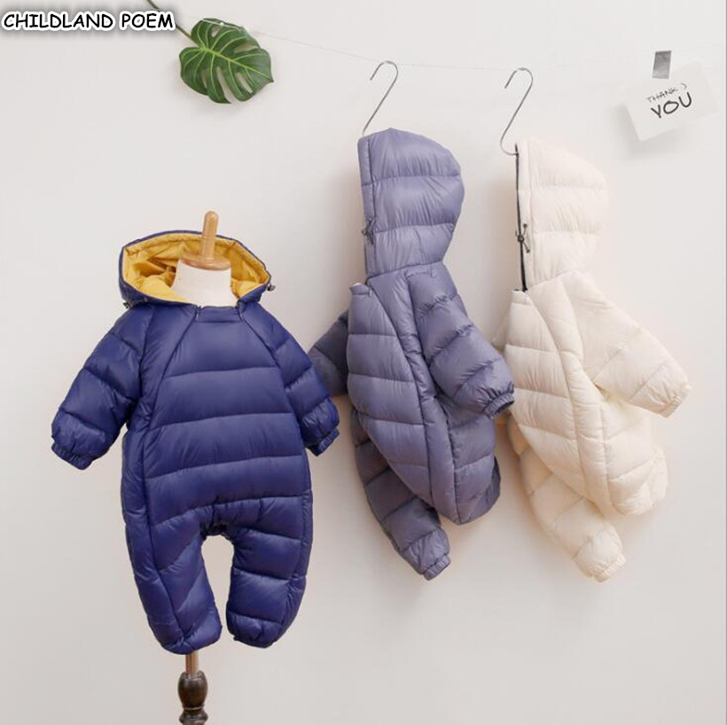 Baby Winter Clothes Newborn Baby Snowsuit For Boys Girl Romper Hooded Warm Baby Outerwear Infant Baby Rompers For Boys Snow Wear