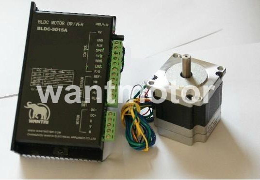 Free Shipping! CNC Wantai Brushless DC Motor 57BLF02 3000RPM 4Phases 0.11N.m 24V& BLDC-5015A Driver 24-50V  Plasma Engraver Kit brushless motor driver 24v 200w bldc motor driver controller for 180w dc dc fan or motor 7 15a