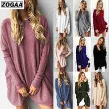 ZOGAA Long Cotton Tops & Blouses 2019 Pure Color Shirt Long Sleeve O-neck Spring Autumn Blouse Blusas Clothing women blouses