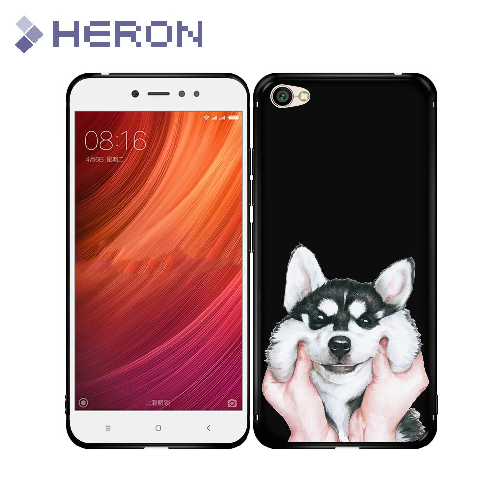 Super Thin Soft Black Matt Case for Xiaomi Redmi 5 Plus 4A 4X 5A Pro Note 4X 5A Pro Snake Tiger Matte Cover
