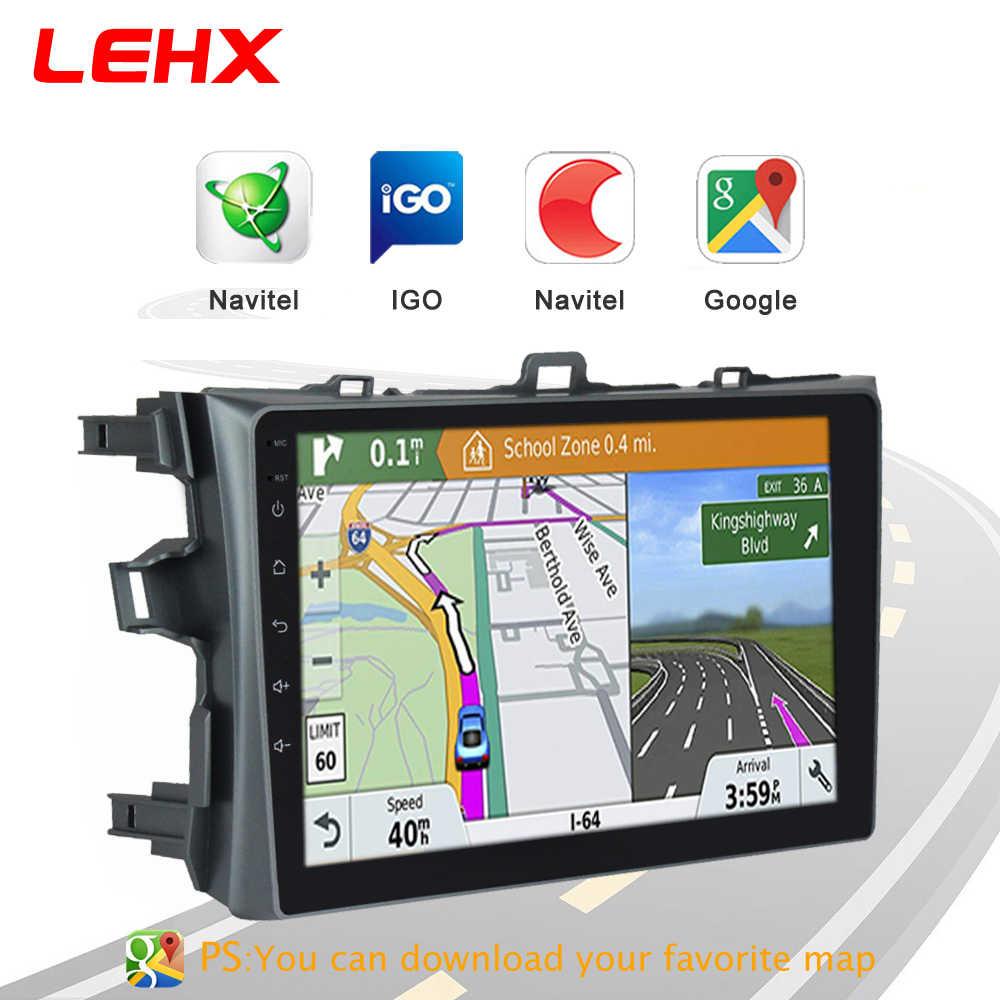 LEHX カーラジオの Android 8.1 マルチメディアプレーヤートヨタカローラ E140/150 2006 2007-2009 2010 2011 2012 2013 WIFI GPS ナビゲーション