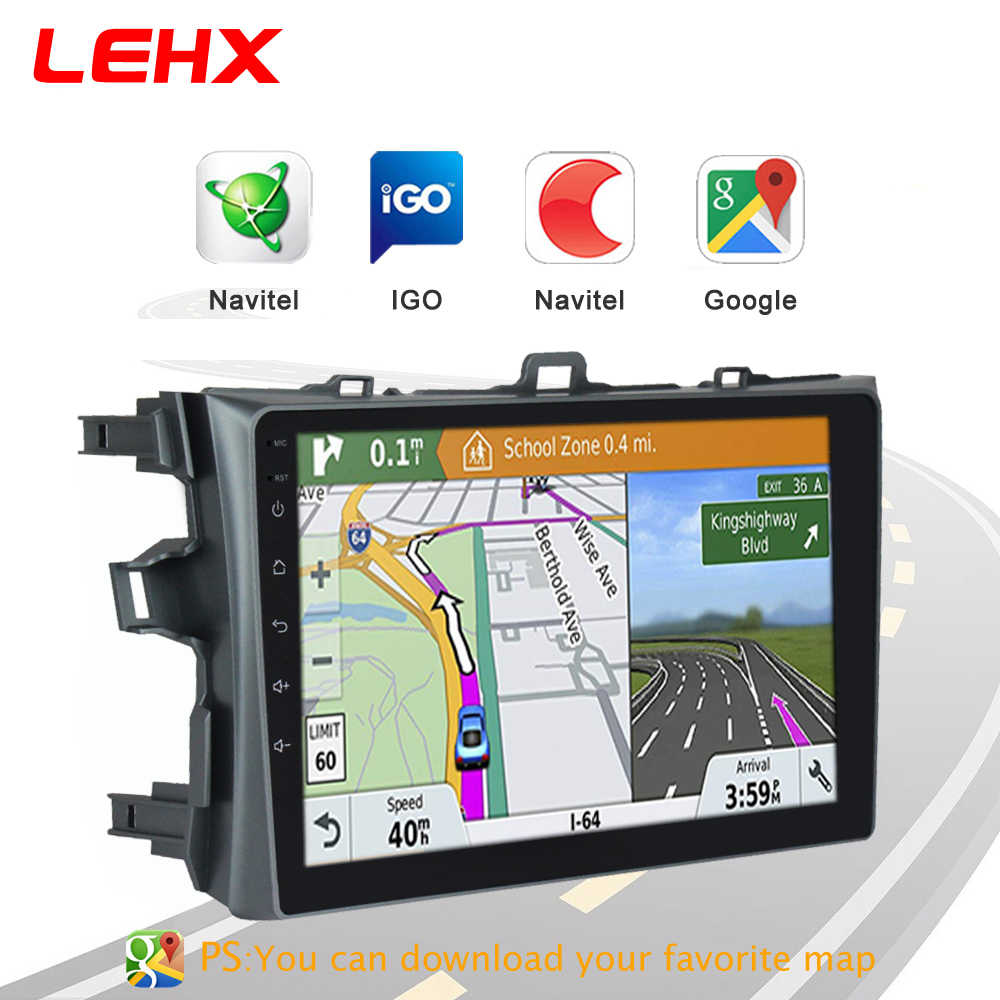 LEHX Radio samochodowe Android 8.1 odtwarzacz multimedialny dla Toyota Corolla E140/150 2006 2007-2009 2010 2011 2012 2013 WIFI nawigacja GPS