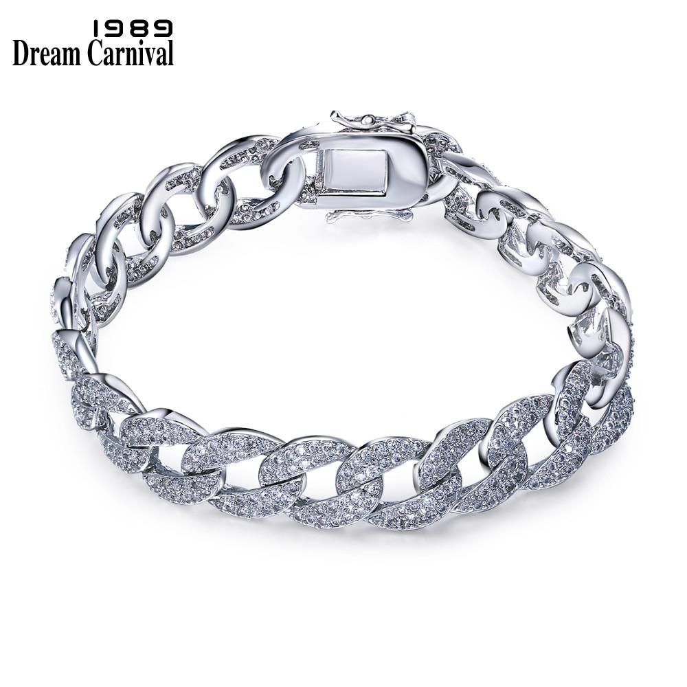 Dreamcarnival 1989 Fashion Big bracelet for woman white Cubic zirconia Hot style Unique Jewelry bracelets SB05325R