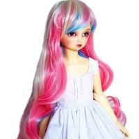 [wamami] 97# Colourful Long Wave Wig For 1/4 MSD AOD DOD DZ BJD Dollfie 7