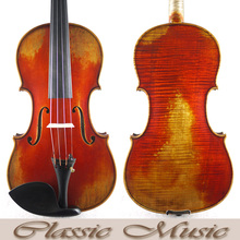 Antique style Handmade Varnish,No.3514,Powerful sound, Stradivarius 1715 Cremonese Copy Master Level 4/4 Violin,European Spruce