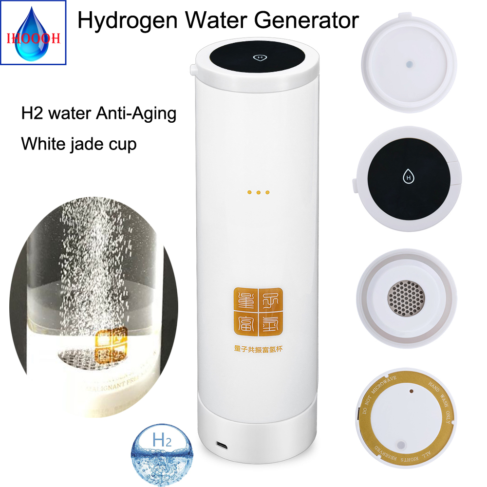 New quantum Hydrogen Rich Generator H2 and O2 High Pure hydrogen Postpone aging detoxify and nourishing the face bottle in Water Filters from Home Appliances