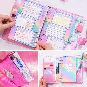 Image 5 - Kawaii A6 Dagboek Notebook Journal Leuke Agenda Bindmiddel Planner Organizer Wekelijkse Spiraal Reizen Losbladige Diy Note Handboek Laser