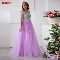 New arrival elegant party dress Mother of the Bride Dresses Vestido de Festa beads gown crystal Major Beading tulle sashes