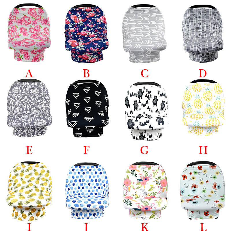 12 Color Infant Baby Stroller Cover Windshield Breast Feeding Towel Windshield 4 in 1 Car Cover Nursing Cloth A