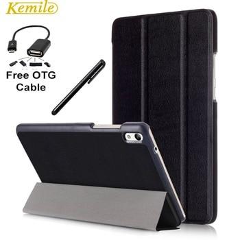 Kemile Ультра-Тонкий Магнитный Складной Флип PU Case Чехол Для Huawei Медиа Pad T2 8.0 Pro Tablet + Подарок