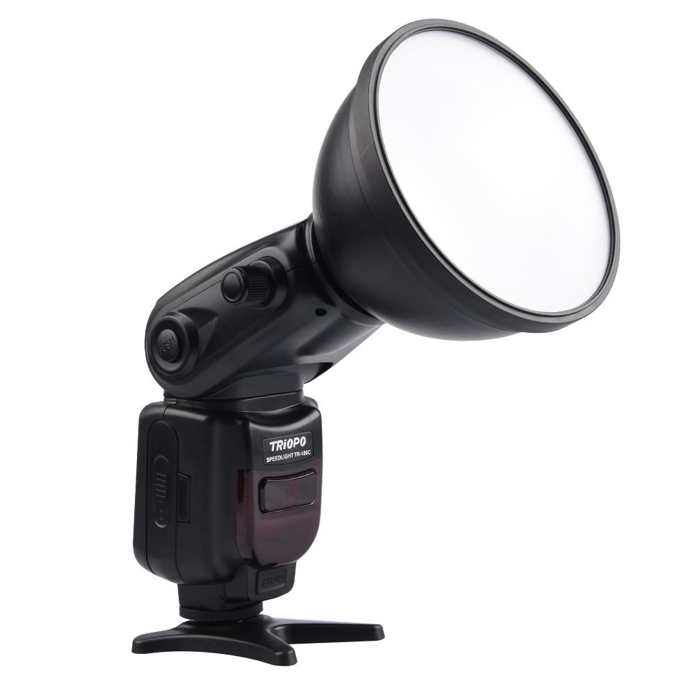 TRIOPO TR-180C E-TTL Bare Bulb Bounce & Swivel Auto Flash Speedlite with Reflector for Canon EOS 7D Mark II 5DIII 6D 70D 60D canon eos 7d mark ii