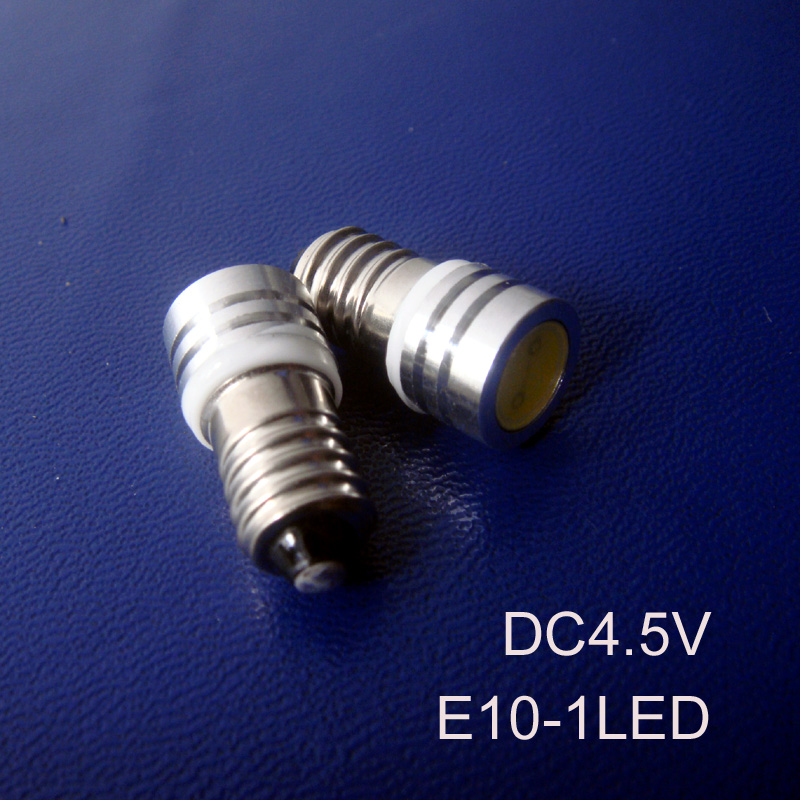 High quality 4.5Vdc Led E10 bulb,COB 0.5w E10 led Indicator Light,Pilot lamp,Led Instrument Light free shipping 10pcs/lot