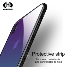 New 5 Colour Cover For  iPhone XS Max Mobile Phone Shell Gradient Glass X/XR/8/7/6 Plus Drop Case