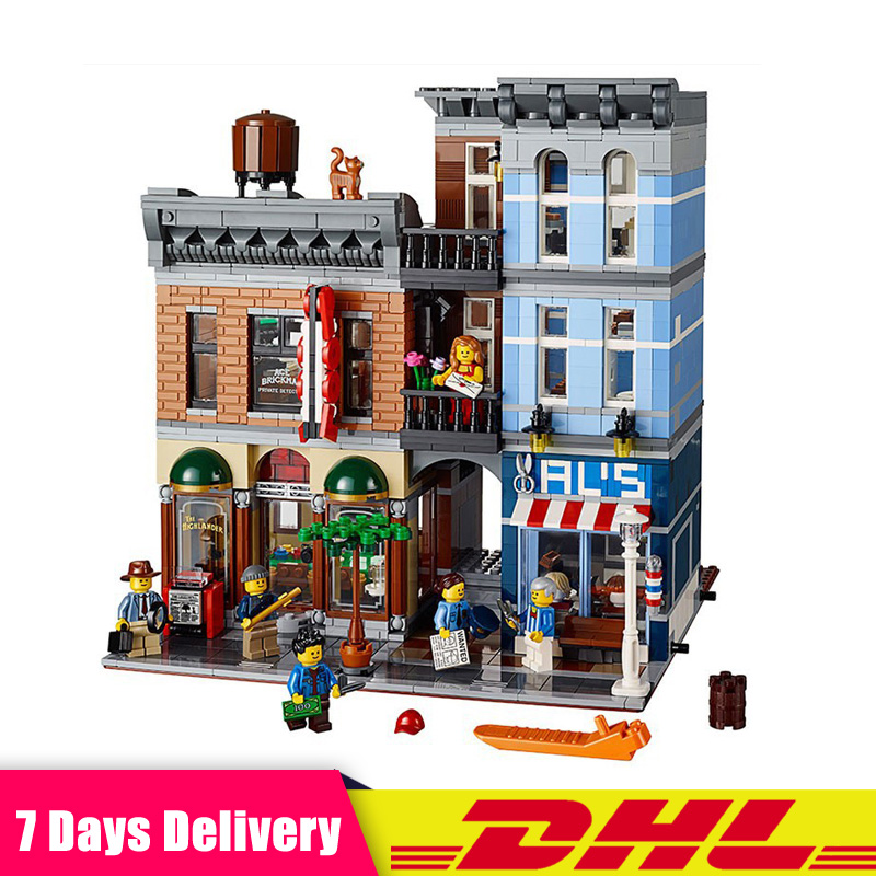 цена на IN Stock LEPIN 15011 2262Pcs Detective's Office City Model Building Blocks Bricks Modular Toys Compatible LegoINGlys 10246