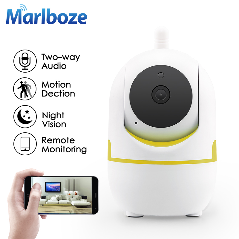Marlboze 720P HD Wifi IP Camera P2P IR-Cut Night VisionTwo-Way Audio Baby Monitor Wireless Home Security Surveillance Camera wifi ip camera 960p hd ptz wireless security network surveillance camera wifi p2p ir night vision 2 way audio baby monitor onvif