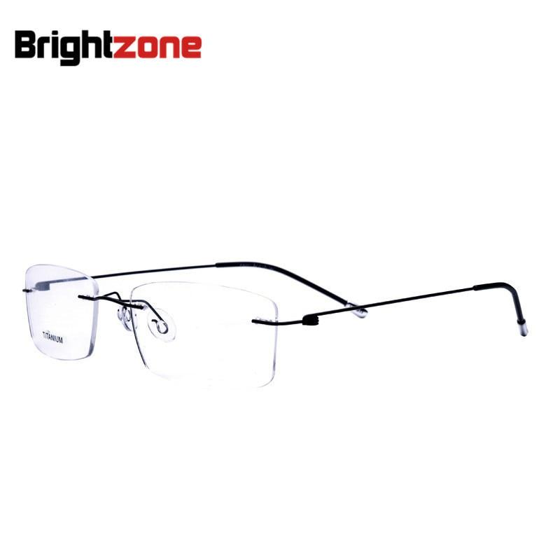 இ2016 nueva moda de titanio myopia rimless Gafas memoria ojo ...