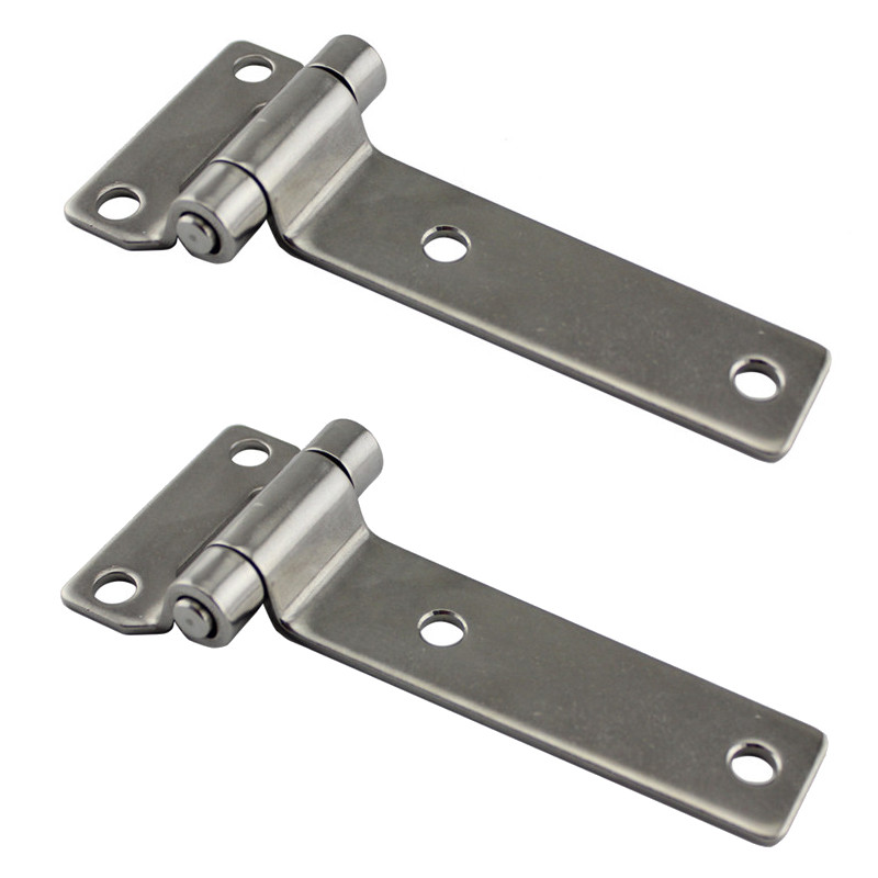 High Polished Solid Forged Stainless Steel T Type Container Hinges For Wooden Cases Door Hinge Marine Boat Accessories 2pcs