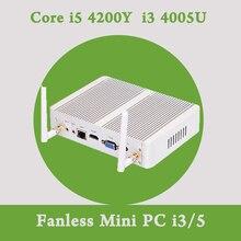 Mini PC Multimed Маленький Haswell Intel Nuc i3 4005U Windows 10 HTPC Безвентиляторный Компьютер Linux Микро Бизнес офис игра Usb
