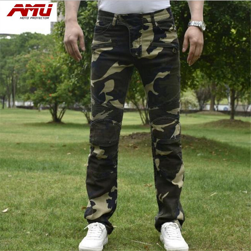 Authentic AMU fashion trend motorcycle riding jeans off-road locomotive racing pants R7 сосо amu 500