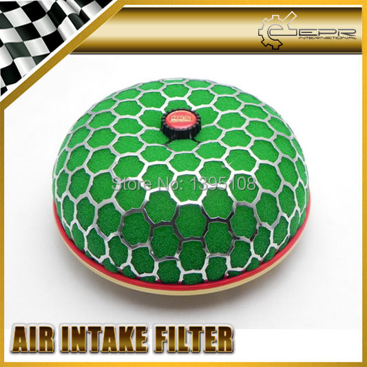 Carro-styling Verde 80mm Filtro De Ar Super Poder Intake Fluxo Reloaded Substituição UNIVERSAL JDM