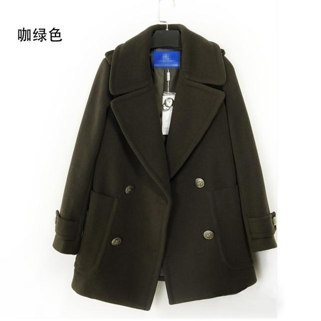 Pattern Autumn And Winter Loose Coat European Will Woolen Loose Coat Woman England Cashmere Woollen Overcoat Long Fund jacket