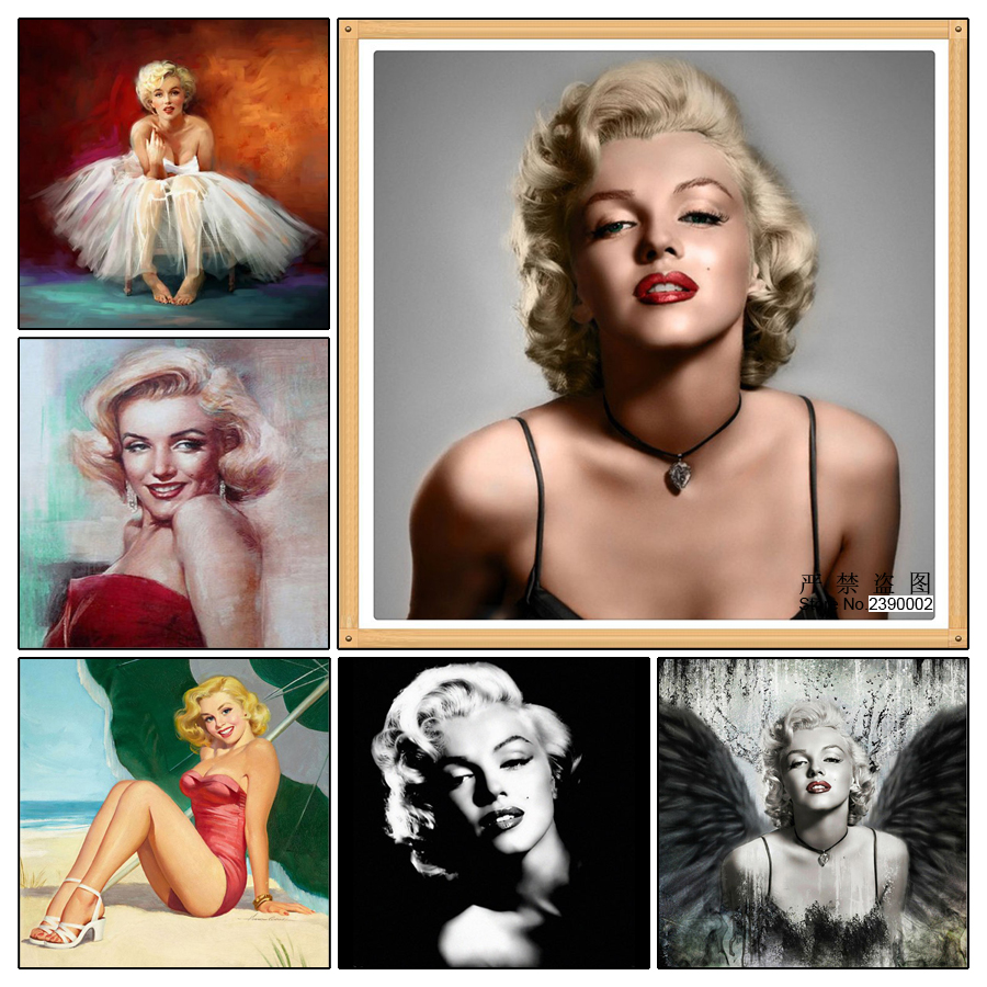 5D DIY Diamond Painting Icons Marilyn Monroe Diamond Mosaic Full Square  Needlework Embroidery Sexy Woman Cross Stitch-in Diamond Painting Cross  Stitch from ... 3fddc5114264