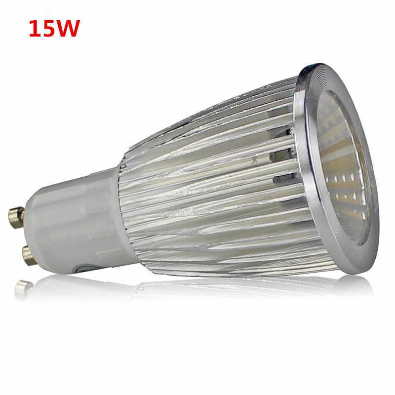 Супер яркий 9 Вт 12 Вт 15 Вт GU10 COB GU5.3 светодиодный светильник 110 В 220 В с регулируемой яркостью светодиодный прожектор теплый белый красный синий зеленый MR16 12 В светодиодный светильник