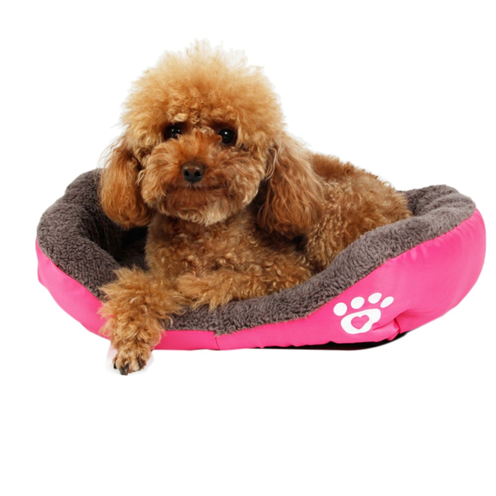 Pink Soft Warm Dog Kennel Puppy Beds Pets House Portable Practical Easy To Use Lovely Cats Cushion Mat Blanket Animal Supplies