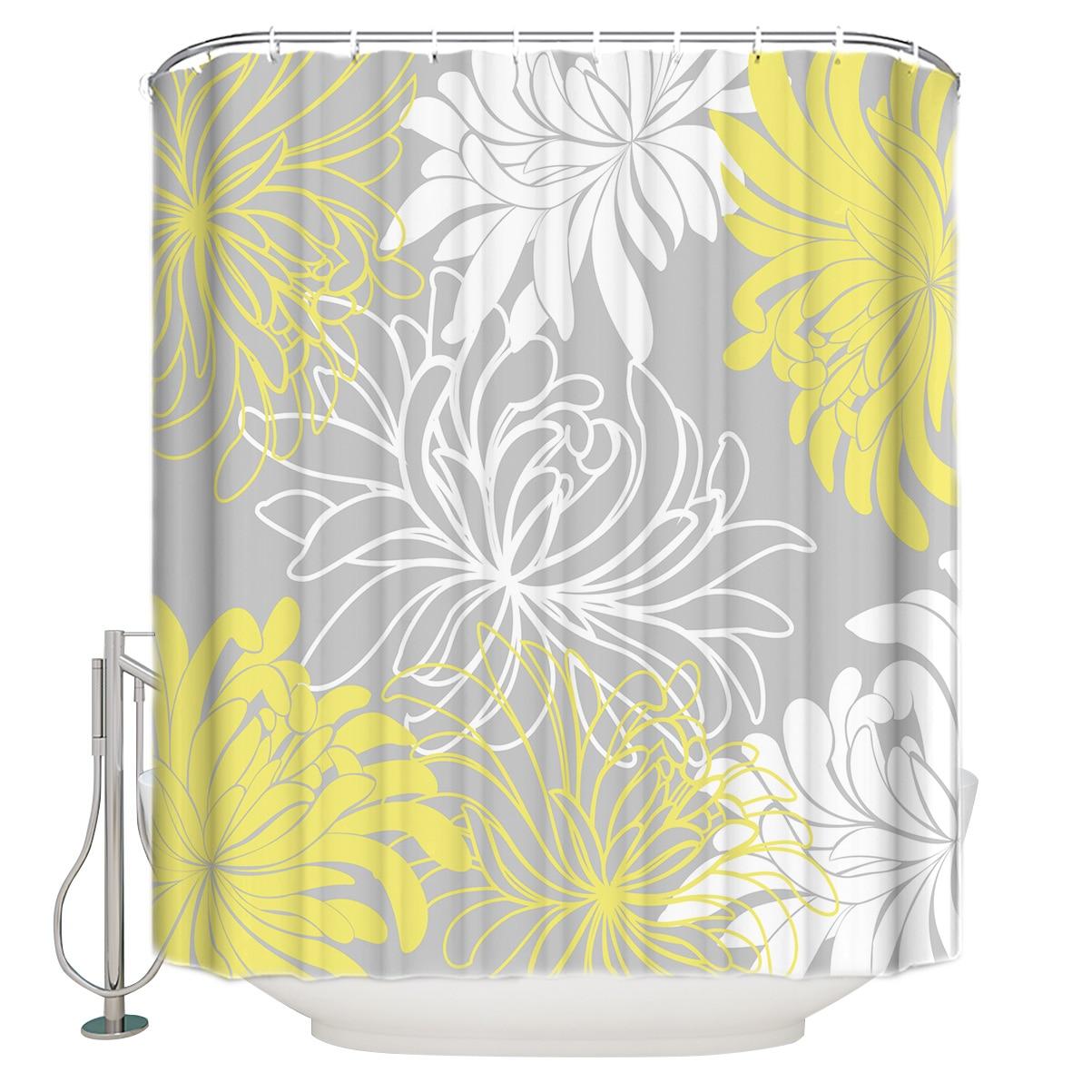 White Bathroom Shower Curtains