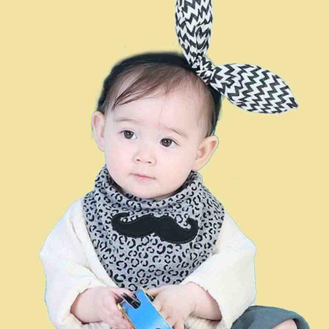 Azeoshe bebé de doble uso baberos Bandana talla grande niño niña algodón Burp paños moda Animal estampado