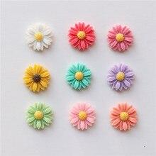 Free Shipping (9pcs/set) Fresh Daisy flower refrigerator magnets Cute message magnet sticker Home/wedding Decoration Kids toy
