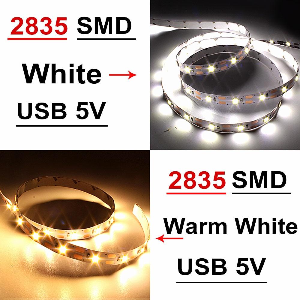 LED Under Cabinet Light White/Warm White RGB USB LED Strip Kitchen Closet Night Light RF Remote for Home Wardrobe LED Diode Tape