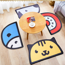 Creative Semi-Circular Cartoon Carpet Bedroom Door Entrance Mat Household Bathroom Cute Floor