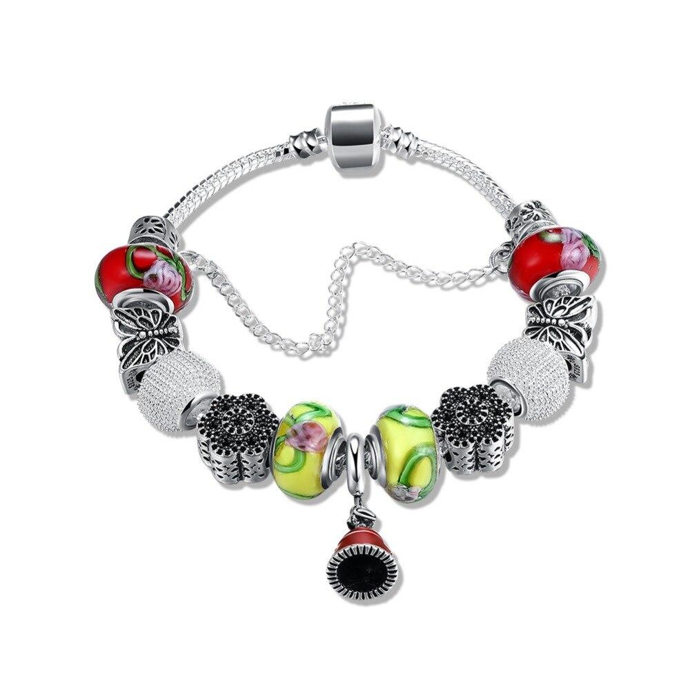 Bracelet Silver 925 Original Pandor Charm Silver Bracelet Luxury Diy Jewelry Christmas Bell Bracelet Gift Women Pratas 925 gift