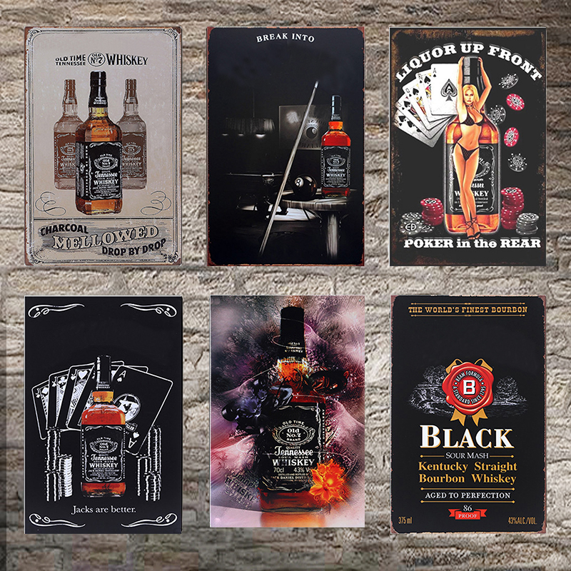 Whiskey Vintage Tin Sign Bar Pub Home Wall Decor Retro Metal Art Beer Coffee Poster Plate 1001(893)