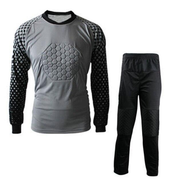 2016 17 New Kids Soccer Goalkeeper Jersey Set Men s Sponge Football Long  Sleeve Goal Keeper Uniforms Goalie Sport Training Suit 260cbcbb1