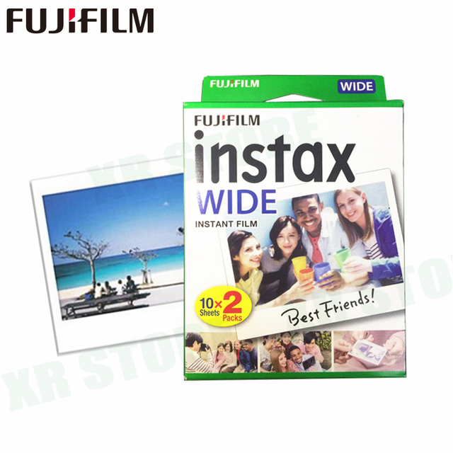 20 filmler Fujifilm Instax Geniş Anında Beyaz Kenar Fuji Kamera 100 200 210 300 500AF Lomography fotoğraf