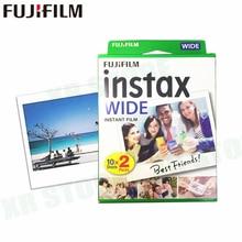 Fujifilm Instax 20 películas, borde blanco instantáneo ancho para cámara Fuji 100 200 210 500AF Lomography photo