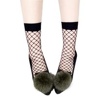 Summer Women Sexy Grid Socks Fishnet Socks Hollow Lattice Black Net Socks High Heels Sox(China)