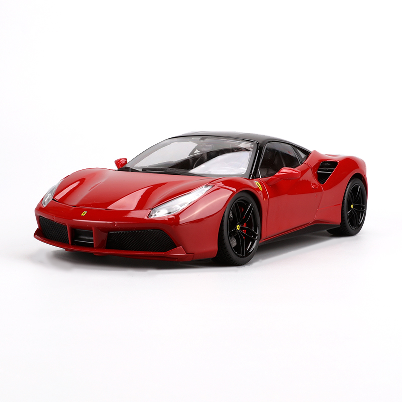 Bburago 488 GTB 1:18 Alloy Car Model Toys Diecasts & Toy Vehicles Collection Kids Toys Gift bburago 360 challengr 1 24 alloy car model toys diecasts