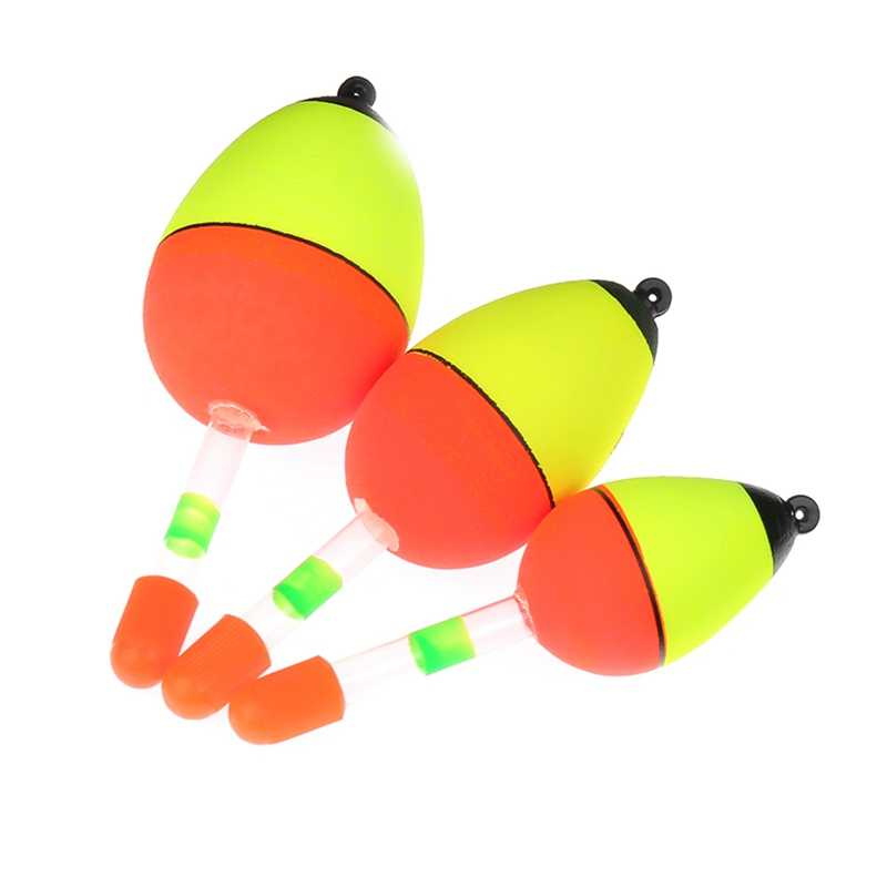 5 Pcs/set Night Glowing Fishing Float Glow Light Stick Fishing Floats Lighting Floats Tube For Fishing