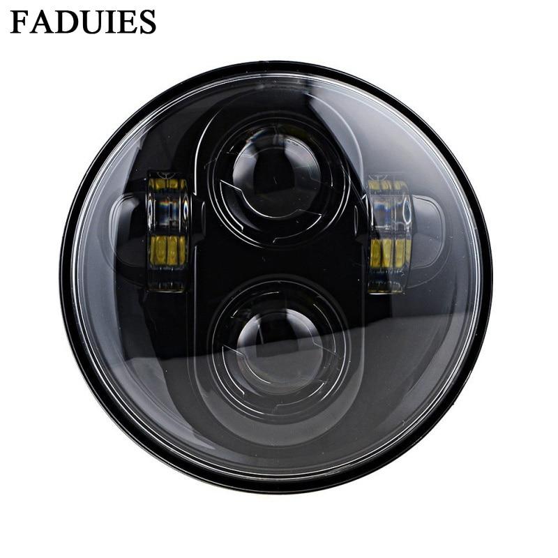 """FADUIES 5.75 """"LED-motorlampa 5-3 / 4"""" Svart LED-strålkastare För cykel Motorcykelljus"""