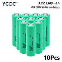 INR 18650 25R Battery 2500mAh Rechargeable 20A lithium continuous discharge dedicated electronic power For Vape Flashlight